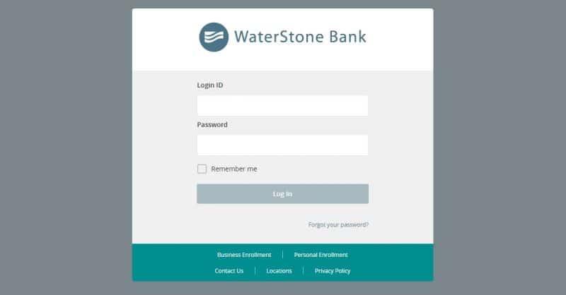 Waterstone bank Login
