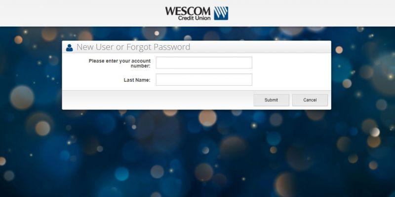 WesCom Credit Union Enrollment