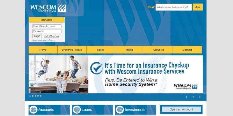 WesComCredit Union HomePage