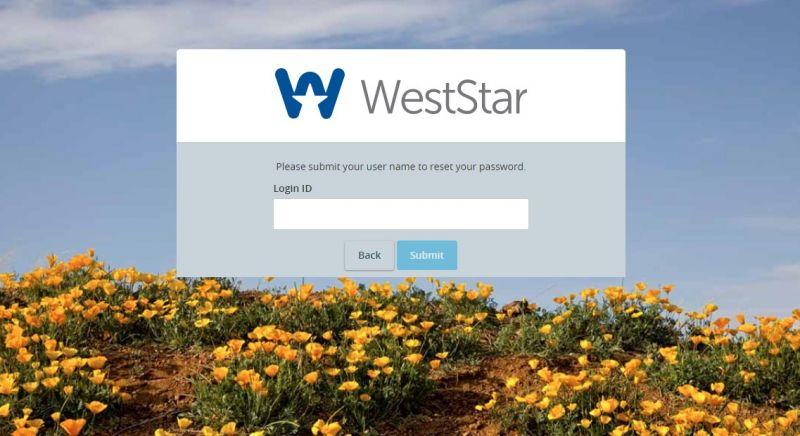WestStar Bank ForgotPassword