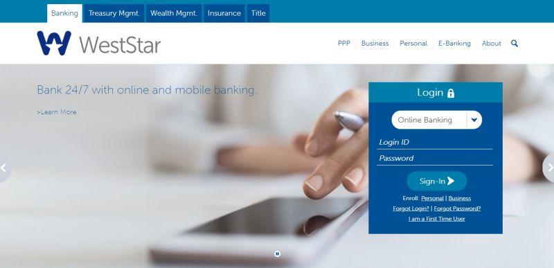 WestStar Bank HomePage