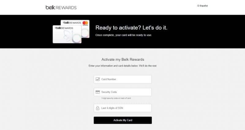 Belk Credit Card Activation