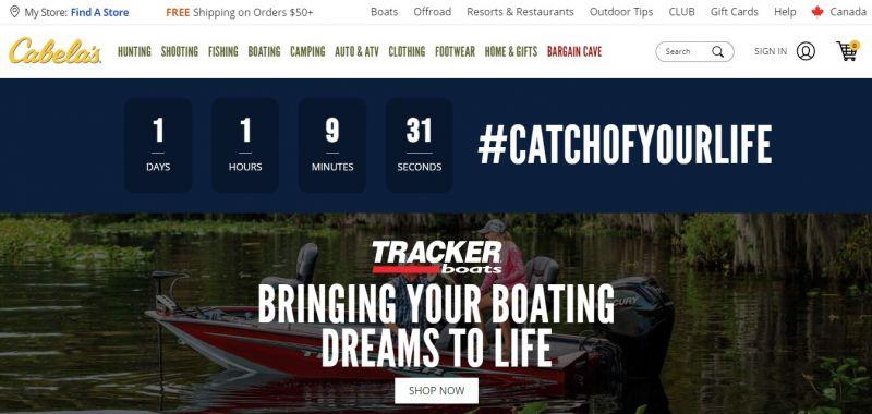 Cabelas Credit Card homepage